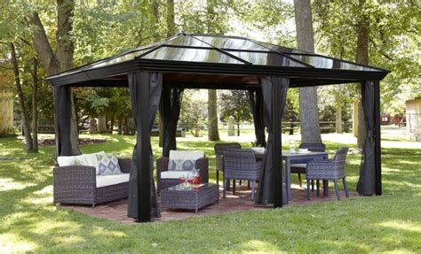 Metal Patio Gazebo 34 Metal Gazebo Ideas To Enhance Your Yard And Garden With Style