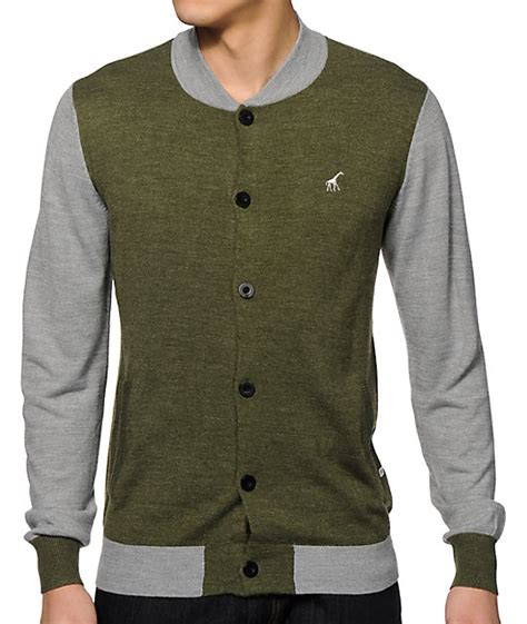 Sweater Rajut Berwarna Abu Abu lrg abu research cardigan sweater at zumiez pdp