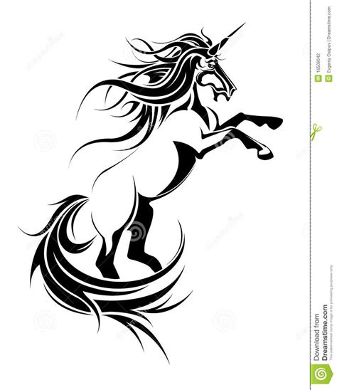 unicorn tattoo stock photography image 16509042