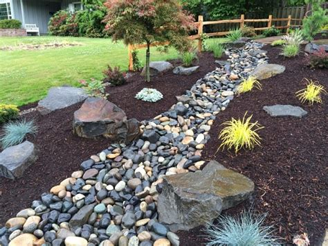rock bed river rock bed landscaping or how to install dry creek