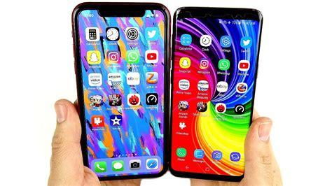 iphone xr vs galaxy s9 speed test