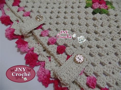 capa de almofada de barbante almofada de croch 234 flores e folhas jny croch 234 elo7