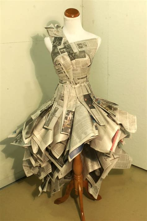 design clothes paper newspaper dress by katie mamula at coroflot com diy