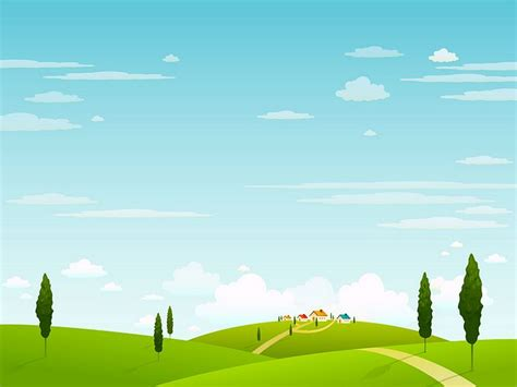 Landscape Illustration Vector Rural Vector Landscape Wallpaper 3
