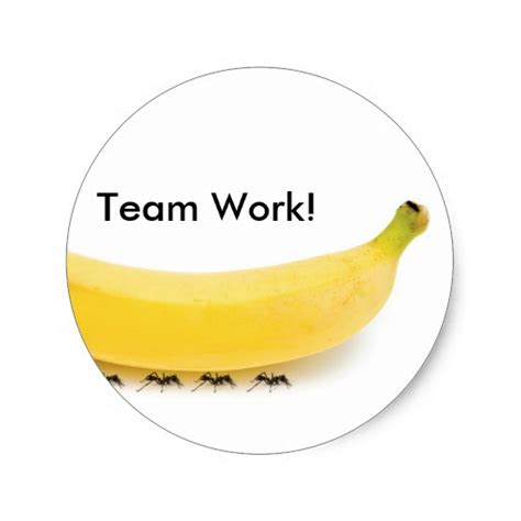 Aufkleber Helmpflicht F R Ameisen by Team Arbeits Banane U Ameisen Lustig Runder Sticker