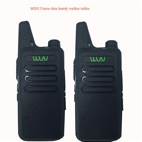 For Wln Walkie Talkie Two Way Radio 1 2pcs best thin uhf 400 470mhz wireless walkie talkie wln kd c1 with 5w ham radio scanner mini