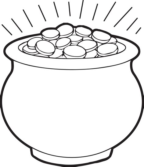 pot of gold coloring page 1 free printable saints and gold