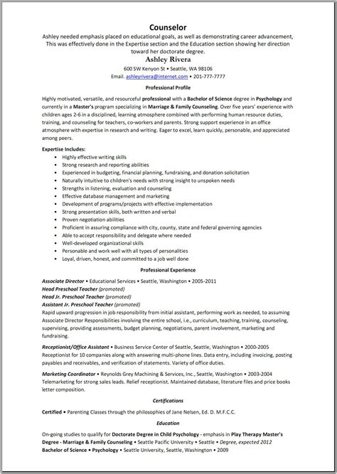 Resume Exles For Veterinary Receptionist C Counselor Resume For 14 Year Olds Sales Counselor Lewesmr