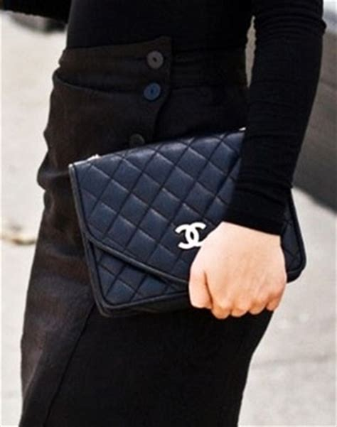 Clucth Chanel 3 black quilted leather chanel clutch housewivestyle