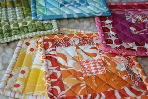 Patchwork Potholders - fitf patchwork potholders in the fridge