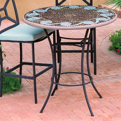 High Patio Dining Table High Patio Dining Table Hton Bay Westbury Rectangular Tile Top Patio High Dining Table