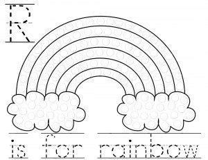 R Is For Rainbow Coloring Page by Tot School March 2015 1 Year 4 Months The Arevalos