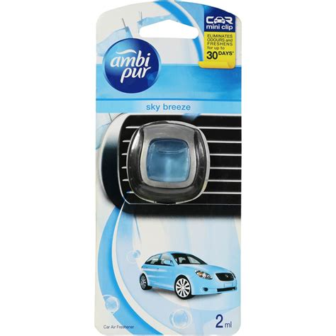 ambi pur mini clip car air freshener sky 2ml woolworths
