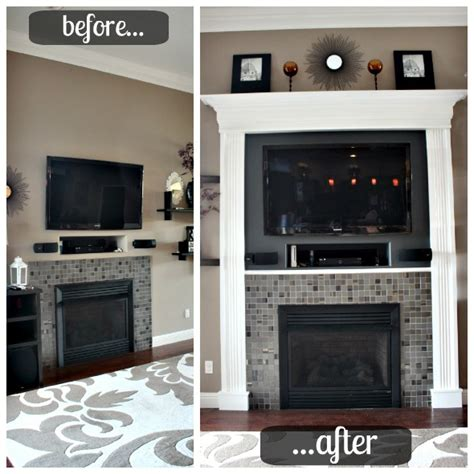 Before And After Fireplaces by 10 Fireplace Before And After Diy Projects