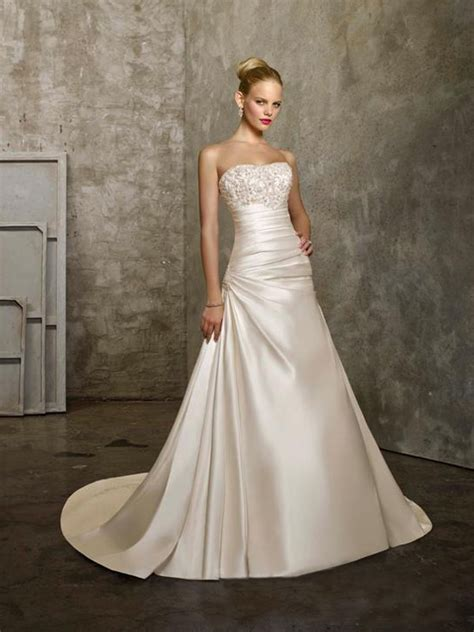 Satin Wedding Dresses by Wonderful Satin Wedding Dresses Sang Maestro