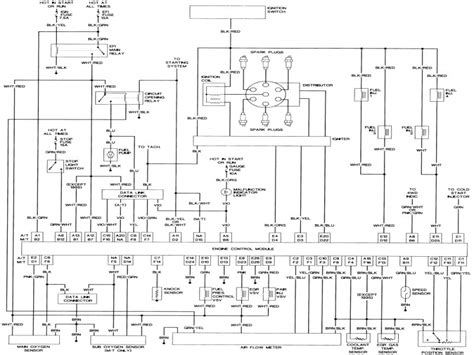 1987 toyota truck wiring diagram wiring diagram with