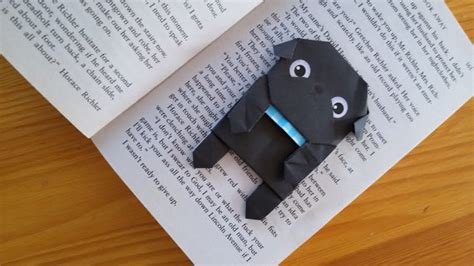 how to make an origami pug page planner bookmark origami paper pug origami handfold
