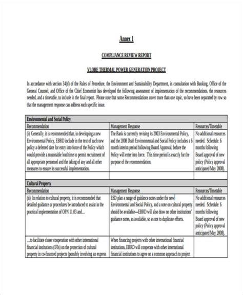 compliance assessment template 12 compliance report templates free premium templates