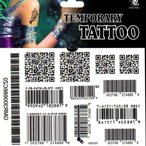 barcode tattoo cover disposable tattoo body painting tattoo stickers waterproof