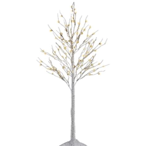 proHT 8 ft. 3 Watt Birch Tree with 132 Warm LED Lights BHS8FT The Home Depot