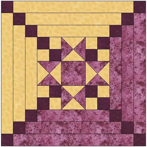 Quilt Centre by Center Log Cabin Quilt Block Pattern The