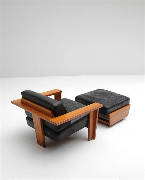 Vintage Chair And Ottoman Vintage Handcrafted Lounge Chair And Ottoman For Sale At Pamono