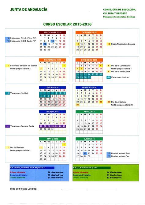 subportal de educacin escalafones 2016 calendario y jornada escolar para el curso 2015 2016