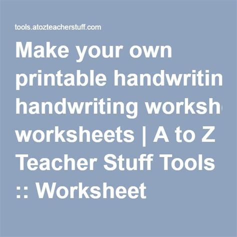 Create Your Own Handwriting Worksheets by 17 Best Ideas About Handwriting Generator On