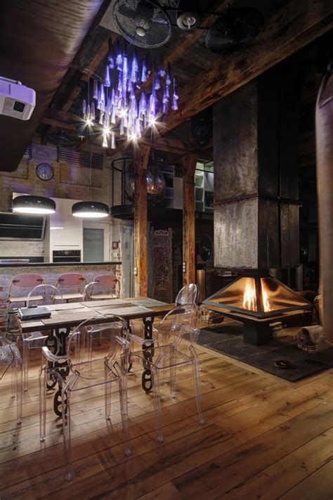 industrial bachelor pad loft design in russian home design and interior