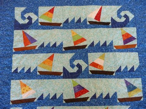 Sail Boat Quilt by Sailboat Quilt Quilt