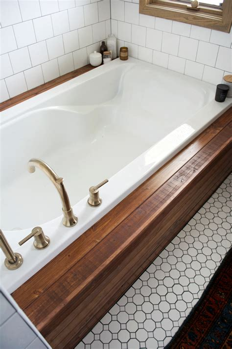how to put in a bathtub how to install wood planking on a bathtub brepurposed