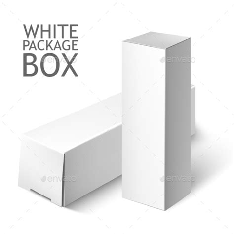 set of white package box mockup template by sabelskaya