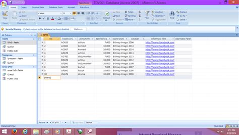 cara membuat query access 2010 membuat query database dengan access 2007 membuat query