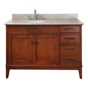 Home Depot Offset Vanity Top Pegasus Manhattan 49 In Vanity In Tobacco With Granite