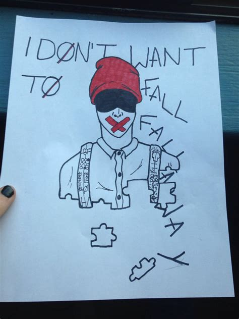 1000 Ideas About Fall Away On Twenty One Items Similar To Twenty One Pilots Drawing Blurryface