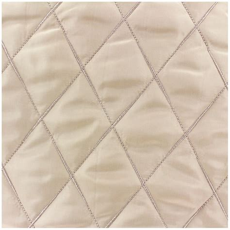 reversible quilted fabric minkee light beige x 10cm ma