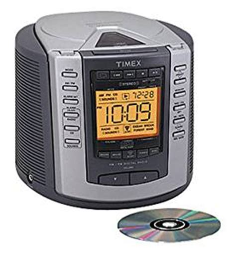 timex t601g nature sounds clock radio stereo cd player digital tuning am fm radio