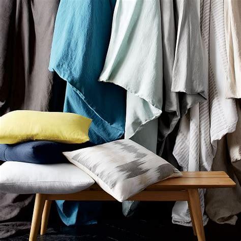 Harbor Linen Pillows Sale by Belgian Flax Linen Duvet Cover Pale Harbor West Elm