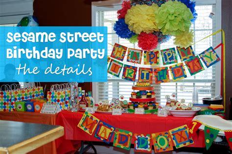 birthday themes sesame street southern blue celebrations sesame street party ideas