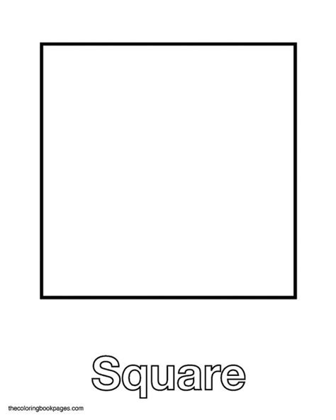 printable square shapes square shape with label fun for little one pinterest