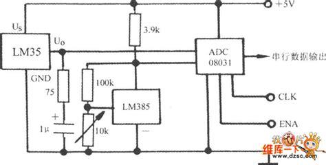 integrated circuit sensor for temperature voltage output integrated temperature sensor lm35 circuit sensor circuit circuit diagram