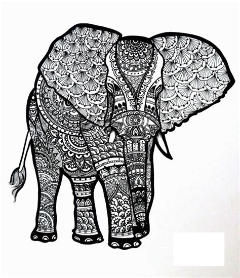 black and white pattern elephant free elephant coloring pages arts elephants