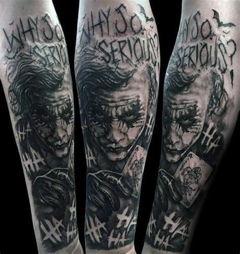 joker sleeve tattoo designs 90 joker tattoos for iconic villain design ideas