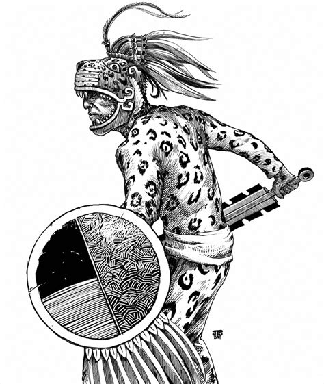 aztec jaguar tattoo designs aztec drawings cake ideas and designs