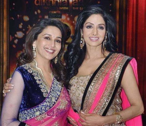 Sridevi Wardrobe by Today S Eye Madhuri And Sridevi On The Sets Of