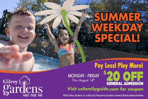 gilroy gardens family theme park coupons discount to gilroy gardens parent guide