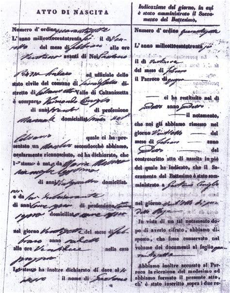 Sicilian Birth Records Sicilian Civil Records
