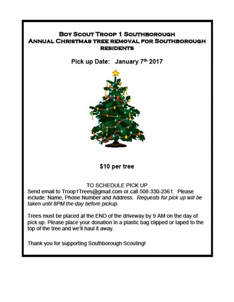 christmas tree pick up my southborough news and events in southborough ma