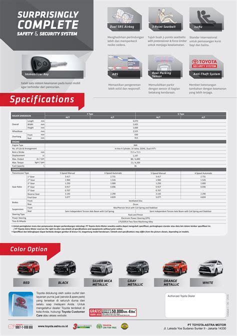 Alarm Mobil Calya harga toyota calya di kalut info harga promo mobil