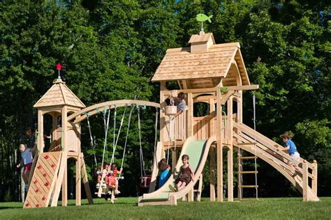 cedarworks swing set cedarworks eco friendly outdoor playsets fit every space
